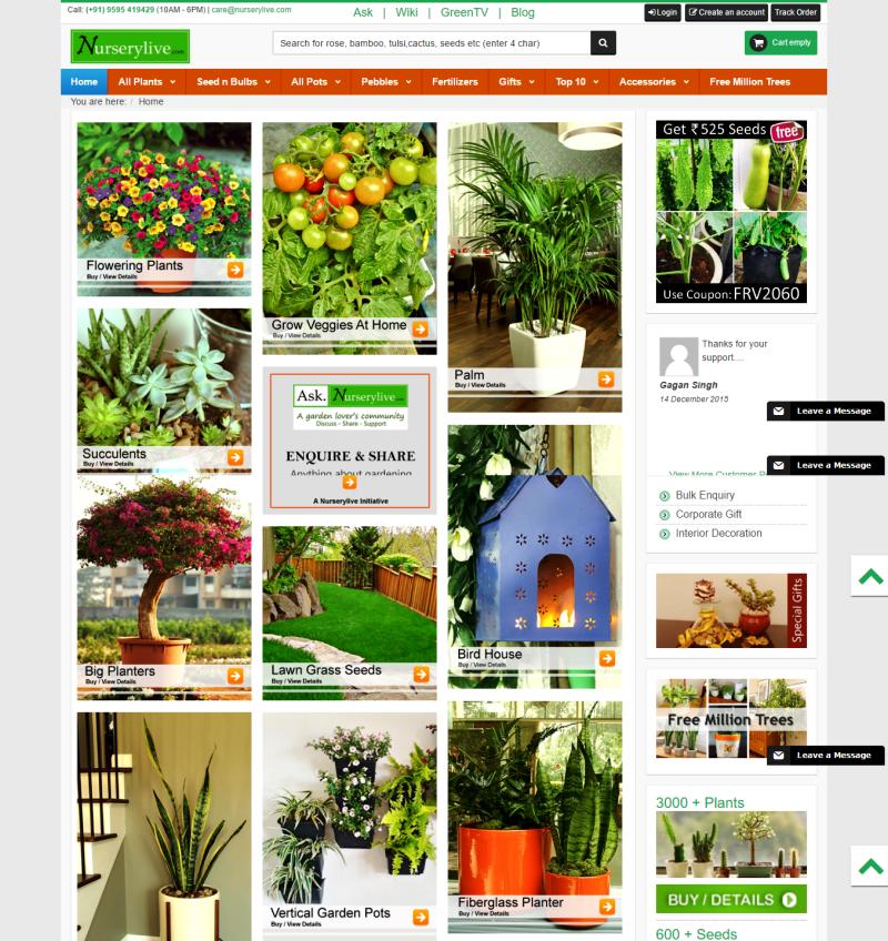 Nurserylive ? A platform for your all gardening needs